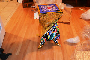 Art painted side table from Bancelona Gatineau Ottawa / Gatineau Area image 1
