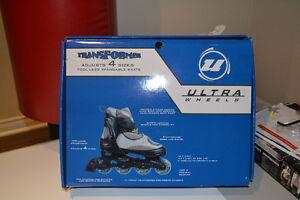 Boys Rollerblades, Transformer, Adjusts 4 sizes, size 5-8