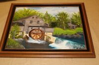 "Painting signed by R. Wells 13""by 17"" framed"