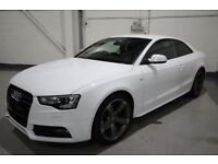 12 Plate Audi A5 2.0 TDI S Line Black Edition Auto Multitronic 2dr 32K in White FULL LEATHER