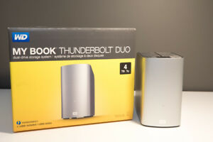 WD My Book Thunderbolt Duo 4TB drive