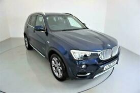 image for 2016 BMW X3 3.0 XDRIVE30D XLINE 5d AUTO-2 OWNER CAR-PANORAMIC ROOF-HEATED BLACK