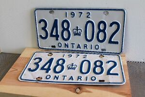 1972  PLATE'S  FOR CLASSIC CAR