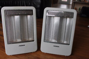 Selling  a pair of NOMA halogen heaters