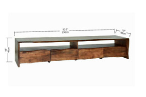 NASHVILLE - Modern Rustic Live Edge Acacia Wooden TV Unit