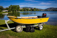 12' DUROBOAT with MERCURY JET 20 (25hp) & Trailer