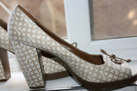 Coach Women Shoes Chaussures Sz 9.5 leather cuir inside