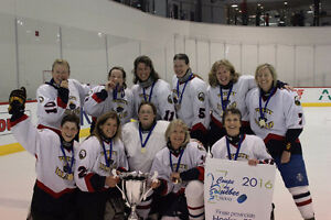 Looking for a female goalie over 55 to play in Brampton in Aug