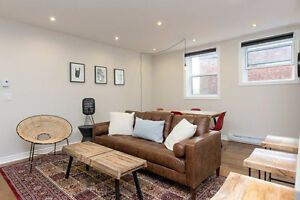 FULLY FURNISHED - 4-9 MONTH LEASE - SEPT-MAY near McGill #725
