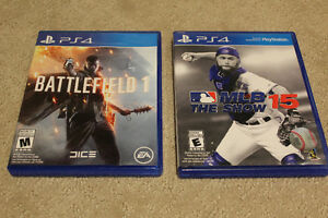 Battlefield One and MLB 15 The Show For Sale