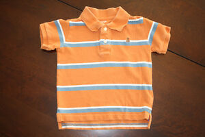 Baby GAP Striped Orange Golf Shirt- 3T