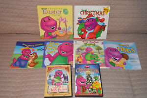Barney Books & DVD's- All for $15 total