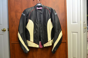 Womens Joe Rocket Leather Motorcycle Jacket