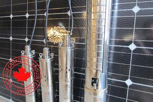 Irrigation solar pumps