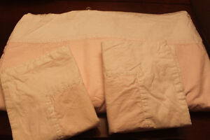 Quality TWIN Sheets with Ribbon Trim (pale yellow)