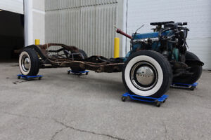 1947 BUICK ROLLING CHASSIS, 56C TOTAL FRAME