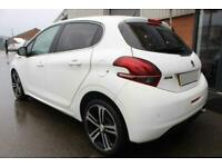 2017 WHITE PEUGEOT 208 1.6 BLUEHDI GT LINE DIESEL 5DR CAR FINANCE FR £121 PCM