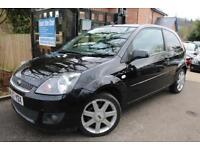 2007 Ford Fiesta Zetec Climate 1.25 3 Door Black FSH Long MOT Finance Available