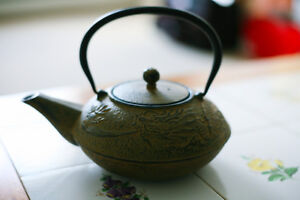 Bamboo Cast Iron Teapot for sale!