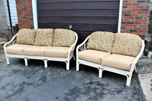 EXCELLENT CONDITION COUCH AND LOVESEAT