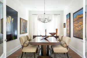 8 Amazing over sized high end dining room chairs