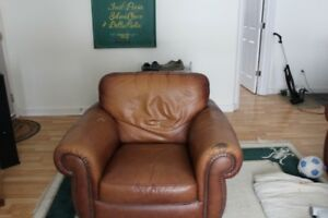 Free Natuzzi Leather Armchair