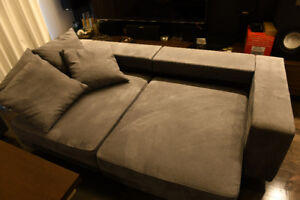 Sofa Pull Out Chaise Lounger - Metal Frame Construction