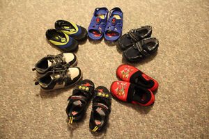 Lot of boys size 11 shoes/slippers/swim shoes for sale