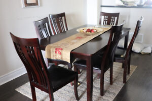 Dining Room Set (6 Chairs) -  Lightly Used