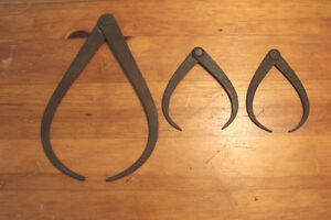 Lot of 3 Old Calipers