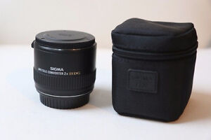 like new sigma DG APO 2X teleconverter for canon