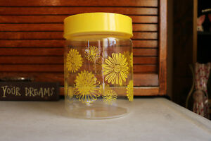 Vintage Corning Daisy Canister