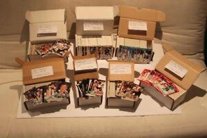 LOT DE 2,210 CARTES DE HOCKEY 1991-92