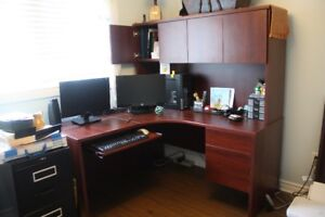 Office Desk with filing drawers/storage/keyboard tray