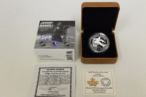 Johnny Bower 2015 Fine Silver $10 Coin - Autographed