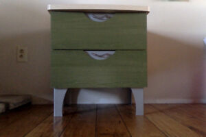 Konto wardrobe and side table