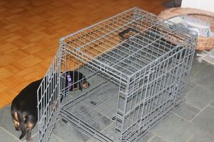 Dog cage - opens both ends -