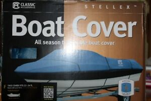Boat cover 22 ft to 24 ft  beam width 116 in New