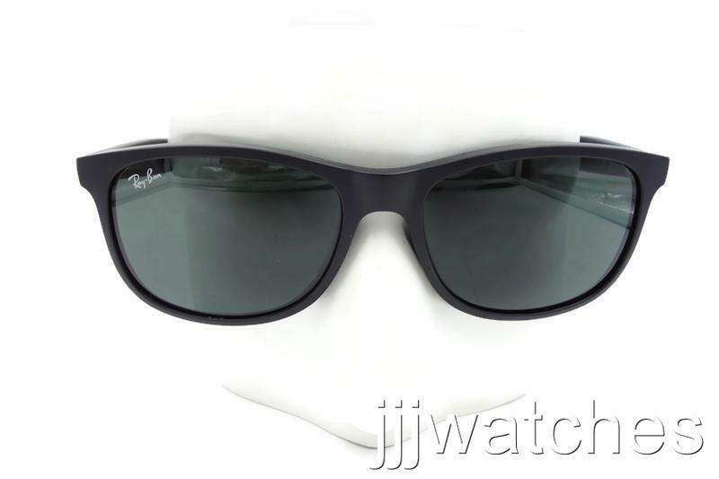Ray Ban Andy Black Classic Green Square Sunglasses RB4202 6069/71 55-17 * $128