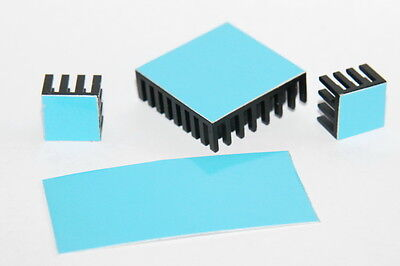 Wärmeleitfolie doppelseitig klebend 60 x 60 mm Klebepad für Kühlkörper