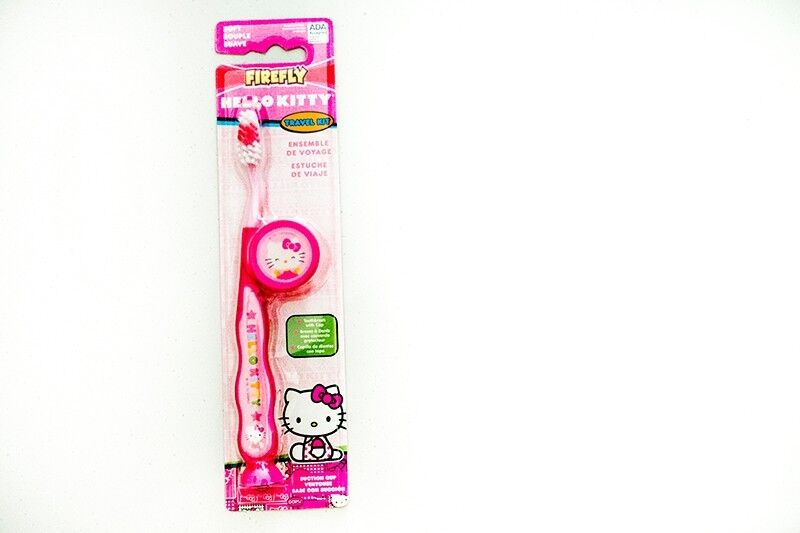 Brand new Hello Kitty toothbrush and paste travel kit for infant toddler kid child