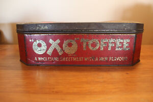 Old Large OXO Toffee Tin - Rare London Ontario image 2
