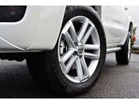 "SET OF 5 VW VOLKSWAGEN AMAROK 19"" ALLOY WHEELS BORBET CANTERA RIM TOUAREG T5 T6 RANGE ROVER SPORT"