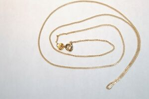 14K Gold Necklace - box chain