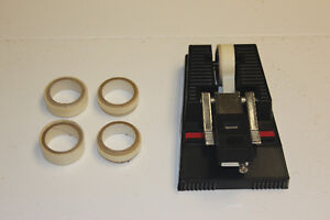 Splicer with tape for film, cassette tapes and reel to reel tape