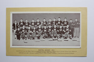 "Montreal ""Maroons"" 1937-38 Crown Brand Photos #106 HOCKEY CARD"
