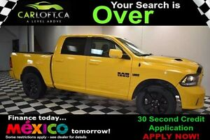 2016 RAM 1500 SPORT CREW 4X4 - REMOTE START**HEATED LEATHER**NAV
