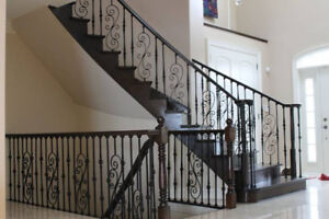 ***HUGE SALE***STAIR TREADS, POSTS, IRON SPINDLE & FLOORING