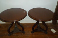 1940s Solid wood end tables