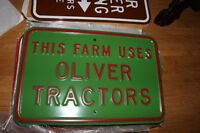 Assorted Farm Equipment Collectable Embossed Steel Street Signs